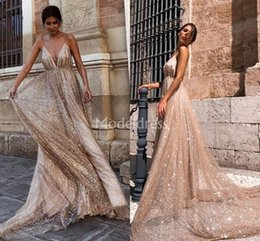 Chic Red Coral Australia - Luxury Biling 2019 Evening Dresses Sparkly Deep V-Neck Backless Special Occasion Dresses Unique Design Formal Party Prom Gowns Chic Vestidos