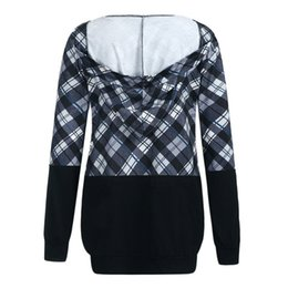 plus summer outerwear UK - TELOTUNY Meternity Hoodies Winter Hooded Sweatshirts for Pregnant Women Plaid Breastfeeding Outerwear Coat Maternity Clothes 927