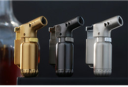refillable gas torch NZ - Mini Metal Spray Gun Compact Butane Gas Torch 1300 Jet Flame Lighter Torch Turbo Lighter Refillable Windproof Cigarette Cigar Lighter