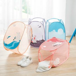 Folded Laundry Basket Canada - Folding Laundry Basket Dirty Clothes Bathroom Storage Basket Bag For Toys Portable Sundries Organizer Toy Container