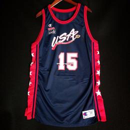 6ee6fbc1f 100% Stitched Hakeem Olajuwon USA Olympics Pro Cut Champion Jersey Mens  Vest Size XS-6XL Stitched basketball Jerseys Ncaa