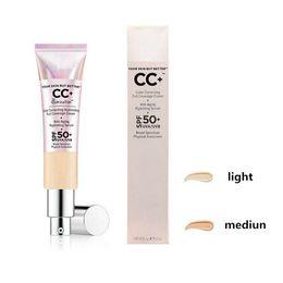 Discount new brand cosmetics - New Makeup brand cosmetics Primer 2 Color Correcting Illuminating Full Coverage Cream 32ml Concealer Light Medium DHL sh