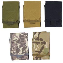 Back Pack Case NZ - Outdoor Camping Hiking Tactical Phone Bag Army Camouflage Bag Hook Loop Belt Mobile Case Waist Back Pack #294802