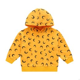 Wholesale 4t yellow hoodie for sale – designer Children s Hoody Boys T shirt New Spring and Autumn Kids Long Sleeve Fashion Leisure Hoodies Print Colors Size4 ly457