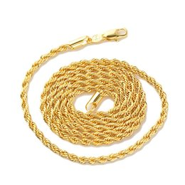 """Yellow Gold Coin Australia - gold filled Yellow Gold GF Men's Women's Necklace 24""""Rope Chain GF Charming Jewelry Best Packaged with 7 days no reason"""