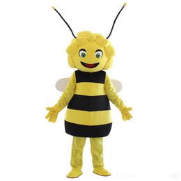 $enCountryForm.capitalKeyWord Australia - 2019 hot sale new character Maya bee mascot costume hot sale girl's bee costumes for Adult Animal large Halloween party