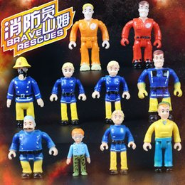 $enCountryForm.capitalKeyWord Australia - 10pcs set Anime Fireman Sam Action Figure Toys Figures dolls Cartoon PVC Sam doll Steele Christmas Gift Children Toys gift Model