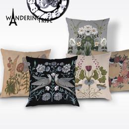 $enCountryForm.capitalKeyWord Australia - Vintage Floral Pillow Case Plant Flower Cushion Cover Cushion High Quality Pillows Cases White Decorative Cushions Covers Kissen