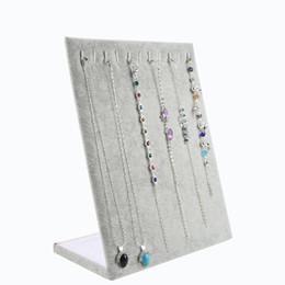 $enCountryForm.capitalKeyWord Australia - Velvet Bracelet Holder Display Stand Jewelry Display Shelf L-Shaped 11 Position Necklace Rack Decoration Organizer Storage Rack