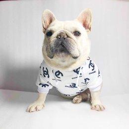 Wholesale dog sweatshirts hoodies for sale – custom Dog Hoodies Letter Printed Dog Hoodies Pet Fashion Sweatshirts Pet Apparel Teddy Puppy New Apparel Pet Clothes QWE9