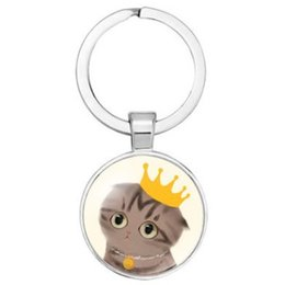 $enCountryForm.capitalKeyWord NZ - ADORABLE MIXED CARTOON CAT FASHION PENDANTS KEYCHAIN KEYRING AWESOME KEY ACCESSORY KEY CHAIN KEY RING CABOCHON PRECIOUS STONE STYLE GADGET