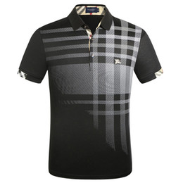 Wholesale t shirt polo mens for sale – custom New Luxury Designer Polo Shirts Men Casual Polos Fashion Letter Print Embroidery T Shirt High Street Mens Cotton Polos M XL