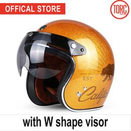 Dot Half Helmets Face Australia - TORC brand motorcycle helmet vintage open face 3 4helmet motorbike motocross jet retro helmet capacete DOT T50 vespa moto helmet