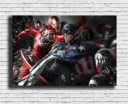 Figure Paintings America Australia - Captain America,Civil War,1 Pieces Canvas Prints Wall Art Oil Painting Home Decor (Unframed Framed) 24X36.
