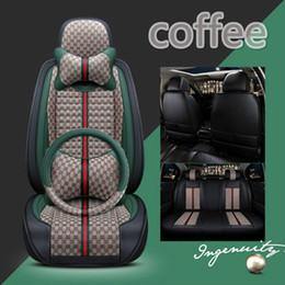 Summer Seat coverS online shopping - Summer use car mat fashion four season general car interior accessories full set car seat cover