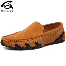 $enCountryForm.capitalKeyWord UK - Suede Leather Men Casual Shoes Breathable Soft Driving Shoes Men's Handmade Chaussure Homme Fashion Flat Loafers Men