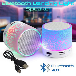 smallest bluetooth subwoofer Australia - A9 crack Bluetooth audio card mobile phone computer small cannon mini subwoofer wireless LED light small speakers