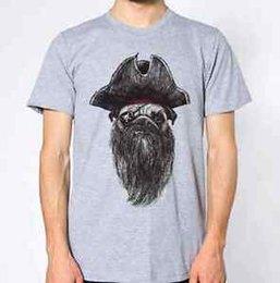 Pug Print shirt online shopping - Dog Pirate New T Shirt Funny Humor Aye Top Puppy Pug Animal Lover Graphic Design