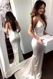 dark green plain prom dress Canada - New Sexy Backless Prom Dresses Plain Mermaid Special Occasion Party Evening Gowns With Covered Button Saudi Arabic Dresses 2020