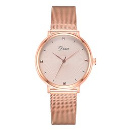 $enCountryForm.capitalKeyWord NZ - Women Fashion Quartz Watch Trend The Color Mesh Belt With Pin BuckleDoes Not Show Off Ladies Watch orologio donna