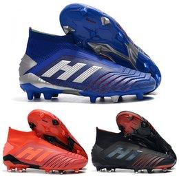 4ce18c1b0 New Mens High Ankle Football Boots tic Predator 19+ Firm Ground ZIDANE  BECKHAM Soccer Cleats Predator 19 FG Outdoor Soccer Shoes