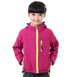 Chinese  Outdoor Sports Kids Jackets Windproof Spring& Autumn Hoodies High Quality Warm Clothes Boys& Girtls Soft Shell S-XXL manufacturers
