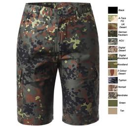 Vente en gros Woodland Chasse En Plein Air Bataille Robe Tenue Uniforme Tactique BDU Armée Vêtements de Combat Séchage Rapide Pantalon Camouflage Shorts SO05-011