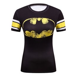 747a5638 Summer Female Compression Superhero Batman superman wonder Women Tshirt  Stranger Things T-shirt Women 3d Marvel Funny T Shirt Y190123
