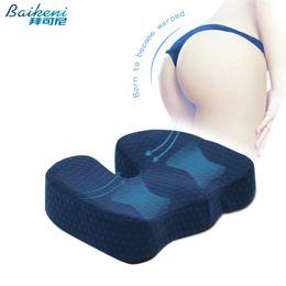 Ergonomic Chair Office Australia - Ergonomic Hemorrhoid Car Seat Cushion Memory Foam Coccyx Orthopedic Chair Cushion Relief Pain Sciatica For Office Home Almofada