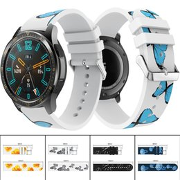 $enCountryForm.capitalKeyWord Australia - 22mm Printing Pattern Sport Silicone Watch Band Strap For HUAWEI WATCH GT Replacement Bracelet Strap For Huami Amazfit 2S