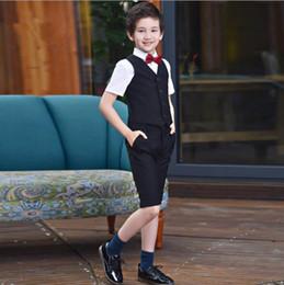 $enCountryForm.capitalKeyWord Australia - 2019 Boys suits for weddings Black Kids Prom Wedding Suits Kids Clothing Set Boy Formal Party Classic Costume 4pcs set