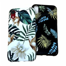 Chinese  Flowers Leaf Soft TPU Phone Case For iphone XS Max Case For iphone X XR 6 S 7 8 Plus IMD phone cases manufacturers