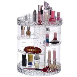 Detachable Shoes Australia - DIY 360 Degree Rotation Transparent Acrylic Cosmetics Storage Box Fashion Multi-function Detachable Makeup Beauty