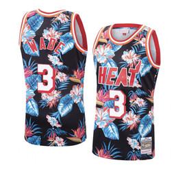 $enCountryForm.capitalKeyWord UK - 2019 Fashion Floral Black Swingman Jersey Retro Mens Dwyane Wade 1996-97 Mitchell & Ness Authentic Basketball Jersey Dense Embroidery