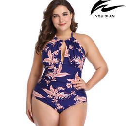 $enCountryForm.capitalKeyWord Australia - New plus size swimsuit women swimwear one piece larges size Russian USA Europe floral swim swimming suit bathing beach wear