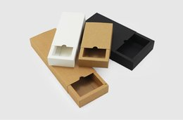 $enCountryForm.capitalKeyWord NZ - Kraft paper box black white paper drawer box for tea gift underwear biscuit packaging carton can be customized 28x14x5cm
