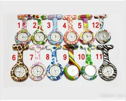 """Paper Glass Printing NZ - """"5000pcs Colorful Prints watches Silicone Pocket watch Fob Quarta Watches Cute Patterns Watch Pin Watches"""