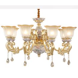 $enCountryForm.capitalKeyWord Australia - European chandelier lights luxury living room bedroom restaurant modern crystal chandeliers noble resin garden retro led pendant lamps
