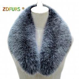 Purple Fur Scarf Australia - ZDFURS * Real fox fur Collar Women Shawl Wraps Shrug Neck Warmer Jacket Fur Collar Stole Natural fox fur Ring scarves D19011004