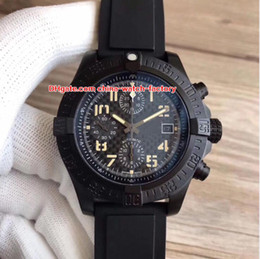 Top makers online shopping - 2 Style Luxury Top Quality Watch Maker mm SuperAvenger II Black PVD Case Chronograph Swiss ETA Movement Automatic Mens Watch Watches