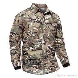 $enCountryForm.capitalKeyWord Australia - HONG WILD Summer Quick Dry Tactical Shirt Men Breathable SWAT Cargo Casual Fast Drying Long Sleeve Army Shirt