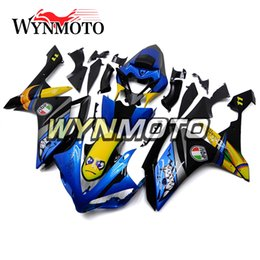 $enCountryForm.capitalKeyWord Canada - Motorcycle Fairings For Yamaha YZF 1000 R1 2007 2008 Shark Style Painting Yellow Blue ABS Plastic Injection motorbike cowlings covers