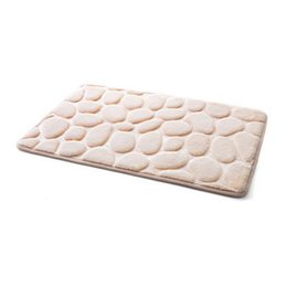 $enCountryForm.capitalKeyWord Australia - Lucky Home Cream Color 3D Pebbles Bath Mat 40x60cm Cobblestone Absorbent Living room,Kitchen,Doorway, Mats for Home Bedroom Floor Decor