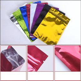 Großhandel Bunte 6x8 cm Folie Zip-Verschluss Nahrungsmittelspeicher-Verpackungsbeutel für Snack Getrocknete Früchte Aluminium Foil Resealable Mylar Selbstdichtungs-Pack Beutel