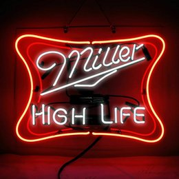 "tavern sign Australia - 17""x14"" Miller High Life Clear Acrylic Backplane Store BEER BAR PUB TAVERN WALL DECOR LAMP ADVERTISING NEON LIGHT SIGN"