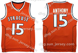 dc2eef95835 NCAA Syracuse College #15 Carmelo Anthony Basketball Jersey Orange Men's  Embroidery Stitched Jerseys Cheap Wholesale