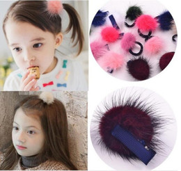 $enCountryForm.capitalKeyWord Australia - lovey girls bay barrettes kids cute hair accessories elastic ball pom hairpin for girls great quality with best price free shipping