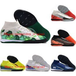 Wholesale lab tops online – design 2020 top quality mens soccer shoes Mercurial Superfly Elite MDS IC indoor soccer cleats CR7 football boots Future Lab Tacos de futbol