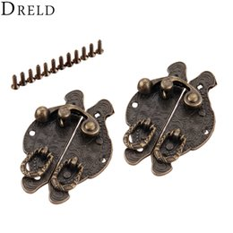 $enCountryForm.capitalKeyWord NZ - Cheap Hasps DRELD 2pcs 59*39mm Antique Box Latch Clasps Hardware Decorative Jewelry Gift Wooden Box Hasp Latch Hook With Screws Alloy Bronze