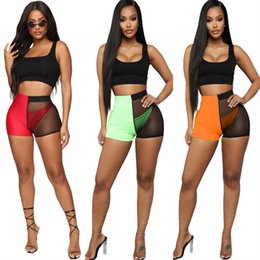 Wholesale hot clubbing outfits resale online - 3pcs set Women Summer Tracksuit Sleeveless Vest Tanks Brifes Shorts Three Piece Set Bodycon See throught Outfits Night Club Clothing Hot